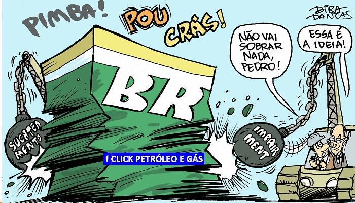 desvalorizaçãp da Petrobras
