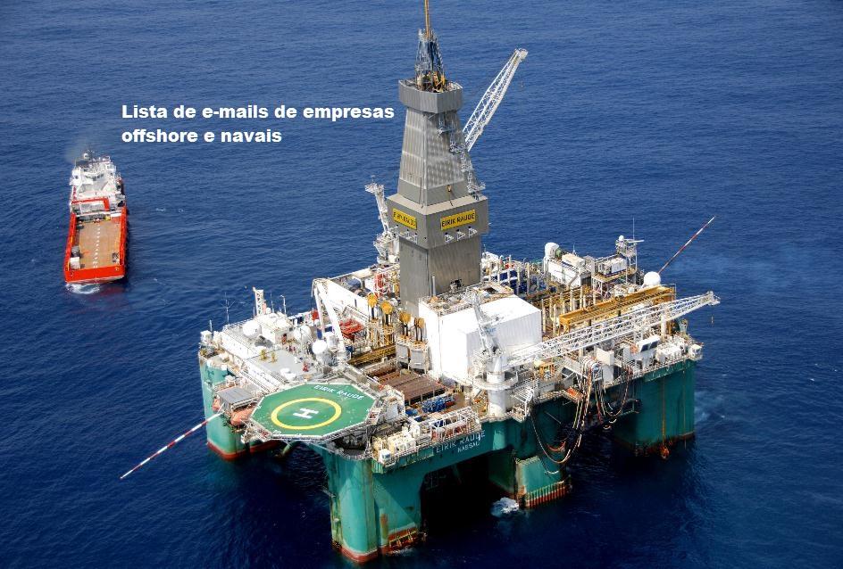 Lista de e-mails de empresas offshore, petróleo e naval