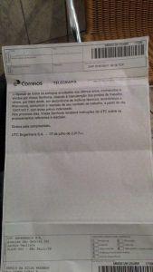 Carta de demissão da UTC