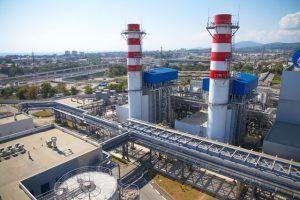 termoelétrica produzindo energia