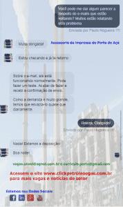 e-mails voltando porto do açú