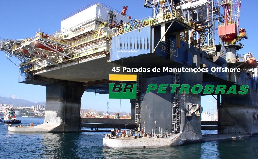 Petrobras divulga a lista das 45 plataformas com paradas de