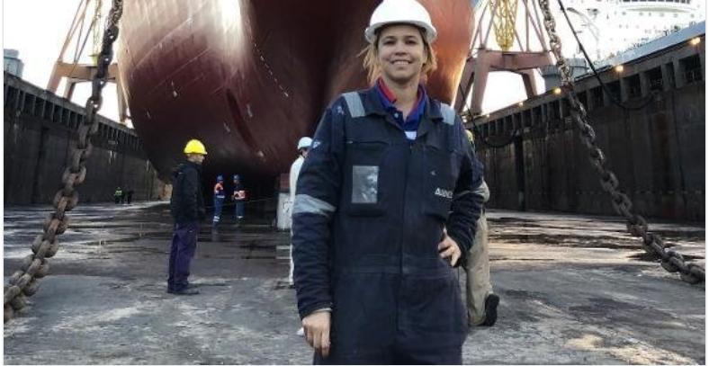 Comandante de navio decide revelar sua rotina como mulher em ambiente marítimo