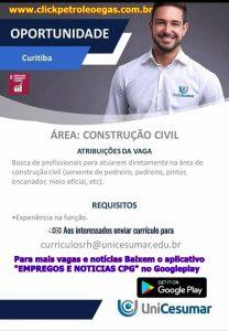 Obras na Cesumar Curitiba construção civil