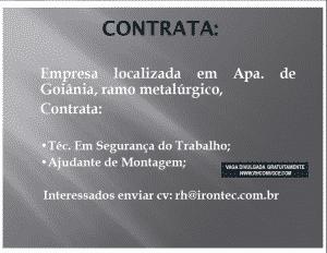 Irontec contrata profissionais para Goiania