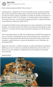 Shell contrata sonda da Queiroz Galvão