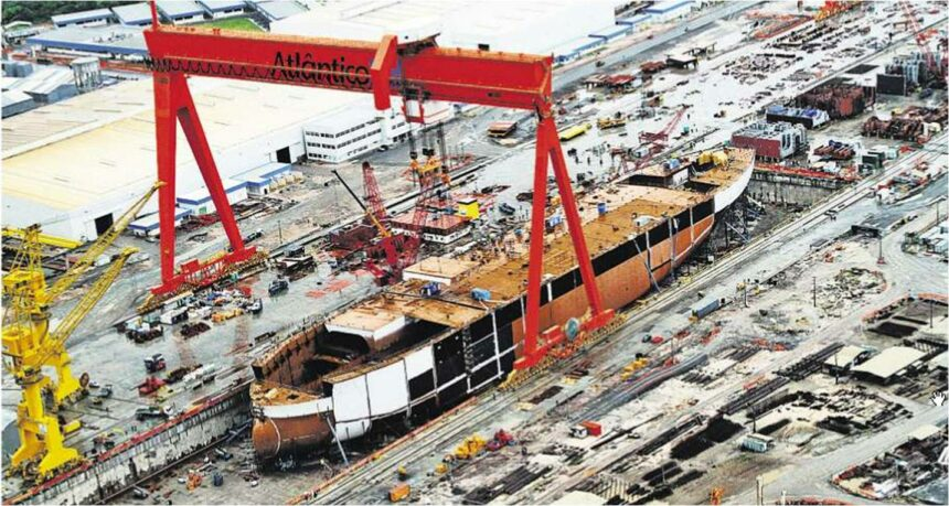 indústria naval brasil crise