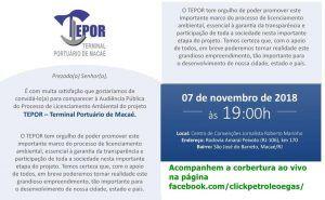 Obras Macaé Porto Audiência pública