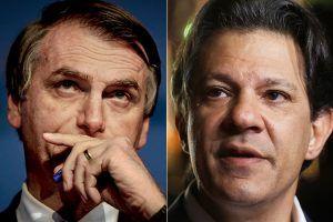 Bolsonaro e Haddad no segundo turno