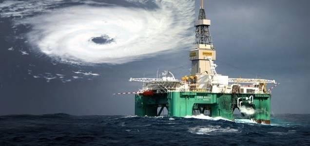 rig hurricane Gulf furacão