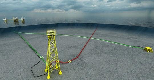 Primeiro petróleo flui na primeira plataforma não tripulada da Noruega