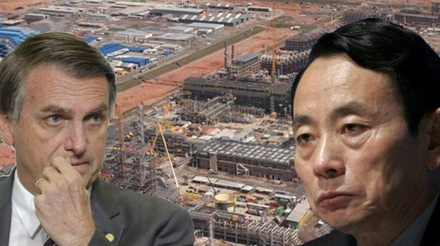 Obras do COMPERJ podem ser afetadas por impasse entre Bolsonaro e chineses