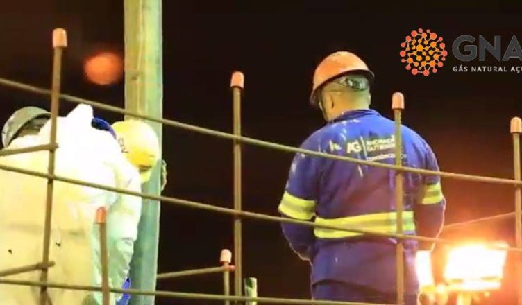 Obras termoelétrica GNA Açú