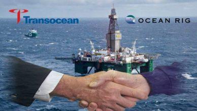 Transocean-Ocean Rig fusão vagas
