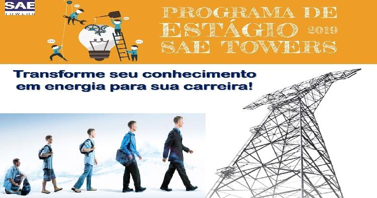 SAE TOWERS disponibiliza vagas de estágio para 2019