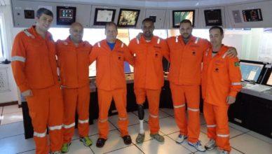 Felipe perna amputada offshore Diamond Offshore Petrobras