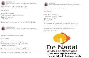 De Nadai Offsshore Macaé vagas e-mail