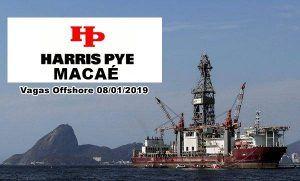 Harris Pye Macaé abre anuncia processo seletivo para novas vagas offshore