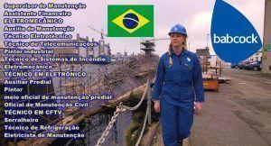 Babcock vagas Brasil SP RJ ES MG DF