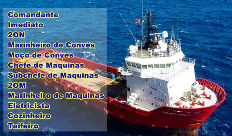 Marlin Navegação Maritimo vagas AHTS apoio offshore