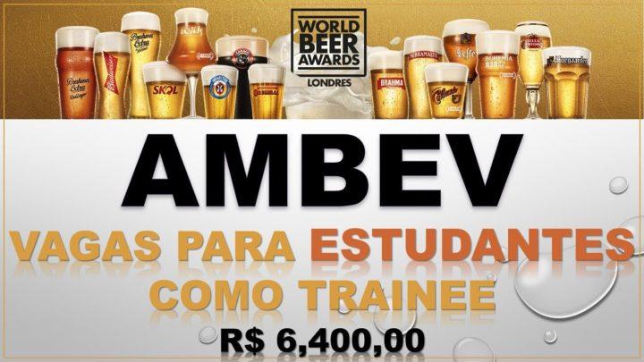Ambev inicia seu Programa Trainee 2019 com salário inicial de R$6,4 mil