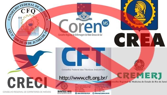 CREA, CRECI, CFQ, CFT, COREN, CREMERJ e outros conselhos de classe na mira do governo
