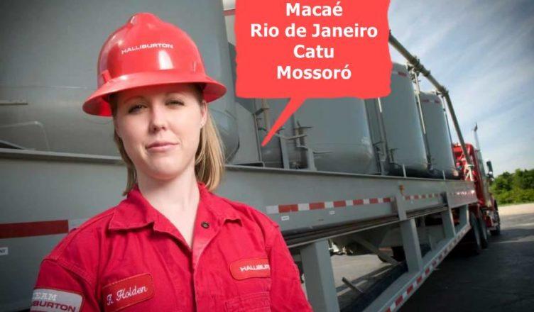 Halliburton Macaé Rio Catu Mossoró vagas estágio técnico engenharia