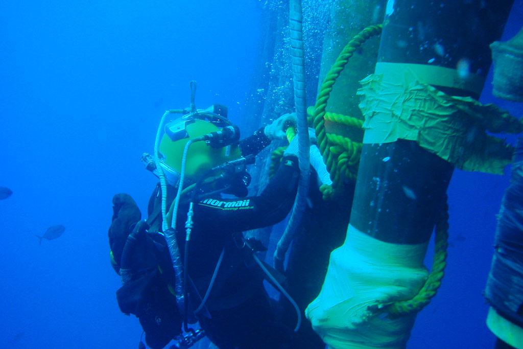 Mergulhadores offshore são convocados para atividades de óleo e gás hoje