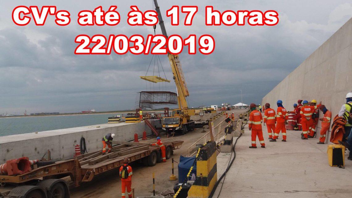 Vagas no Porto do Açú e outros empreendimentos em São João da Barra até às 17 horas deste dia 22