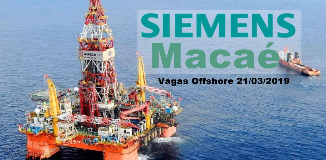 Vagas Offshore Siemens Macaé Técnicos conectores