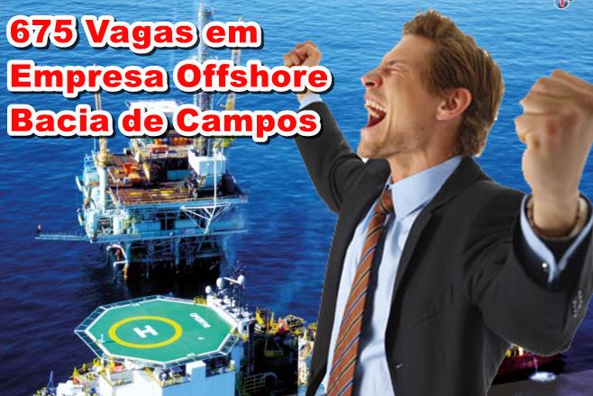 Bacia de Campos 675 vagas offshore São Francisco de Itabapoana