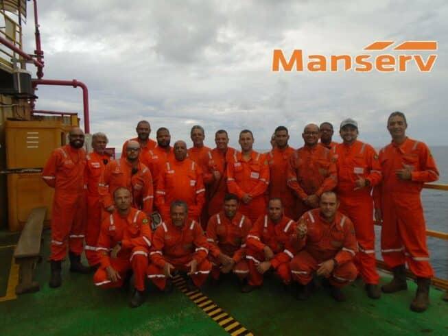 Manserv desmobilização equipe contrato Petrobras