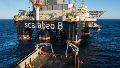 Scarabeo 8 saipem mar do norte contrato