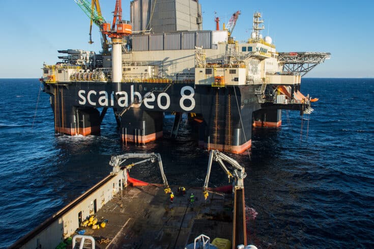 Scarabeo 8 saipem mar do norte contrato