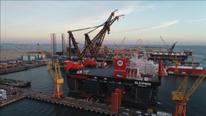 Offshore embarcação guidastes