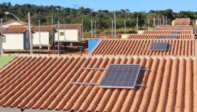 Aumento de painel solar em residências