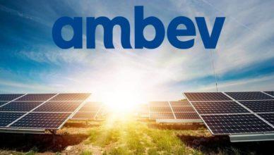 Ambev energia solar cervejaria matriz energetica renovavel