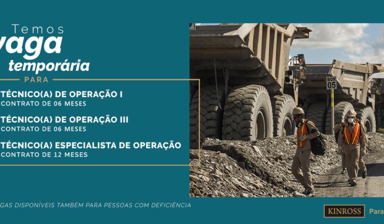 Kinross vagas Mineração Técnicos