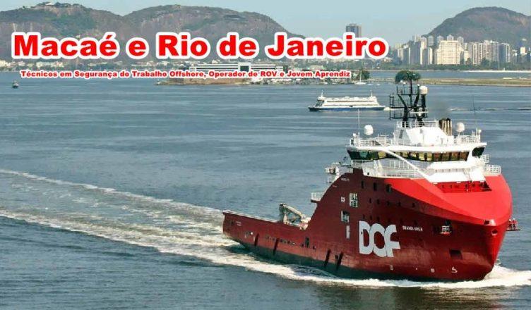 Técnicos em Segurança do Trabalho Offshore,Operador de ROV e Jovem Aprendiz