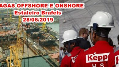 Vagas Offshore e Omshore Brasfels 2019