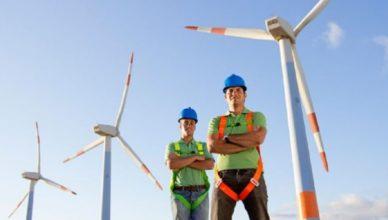 Vagas no setor eólico
