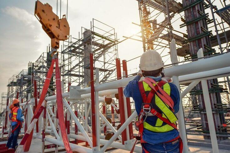 Construção civil em alta