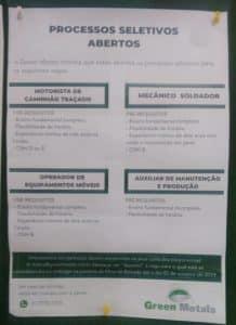 vagas Minas Gerais