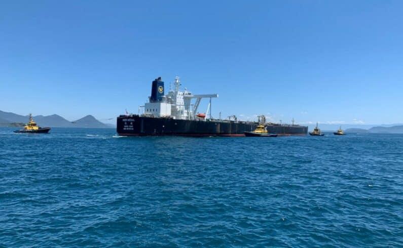 navio petróleo China Angra dos Reis