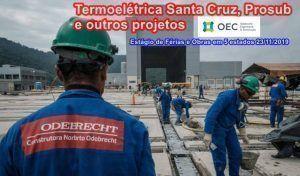 Odebrecht OEC Obras RJ empregos VAGAS