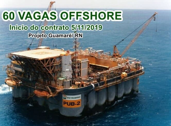 Offshore RN empregos projeto vagas petróleo guamaré