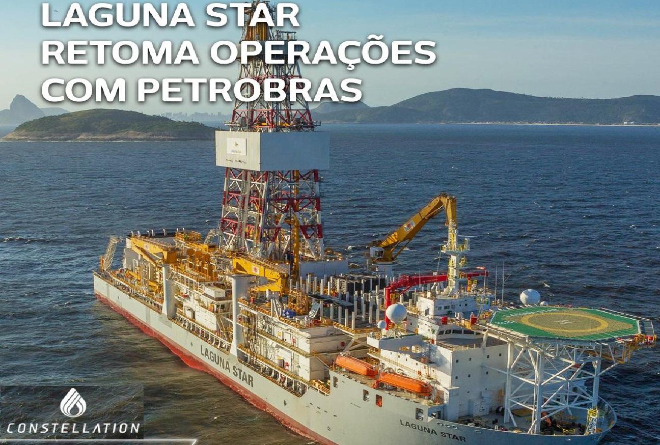 Navio sonda Laguna Star da Constellation retoma operações com a Petrobras - Click Petróleo e Gás