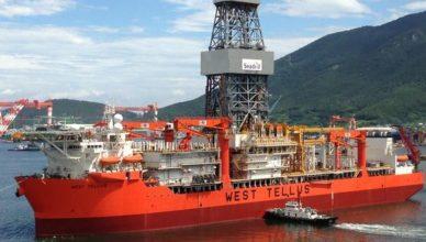 Petrobras, petróleo, pré-sal, bacia de santos, west tellus navio-sonda