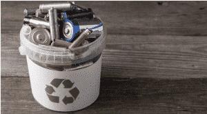 balde de reciclagem de eletrônicos
