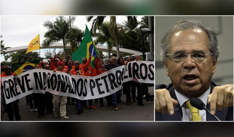 Guedes greve Petrobras